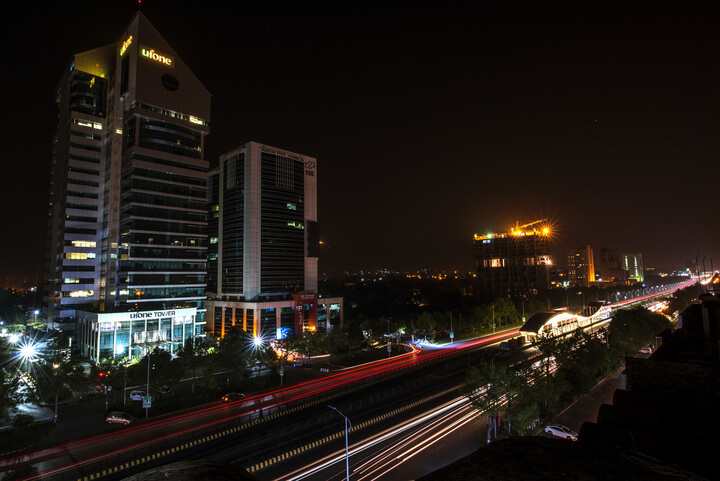 Night View of Islamabad Stock Exchange
