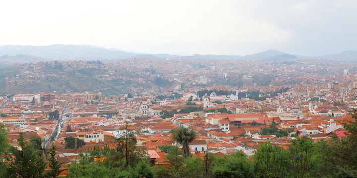 Skyline Over Sucre Bolivia